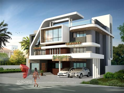 www home exterior design com bungalow rendering company surat 3d power