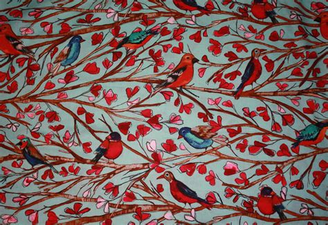 quail pattern fabric fat quarters curls and q