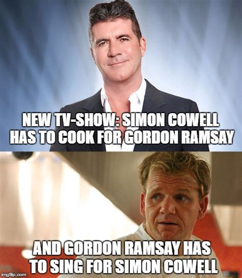 Simon Cowell Meme - cowell ramsay imgflip