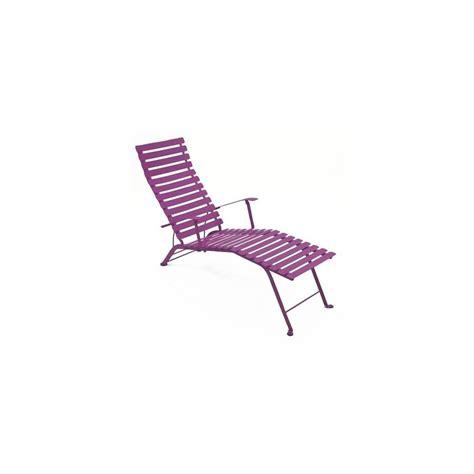 chaise longue fermob chaise longue pliante bistro aubergine fermob