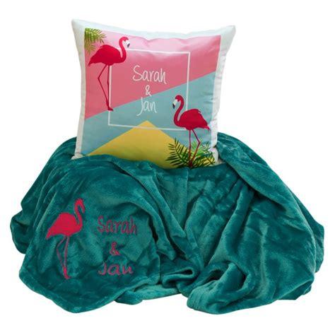 decke und kissen kuschel set decke und kissen quot flamingo quot