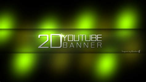 2d youtube banner template psd by style p on deviantart