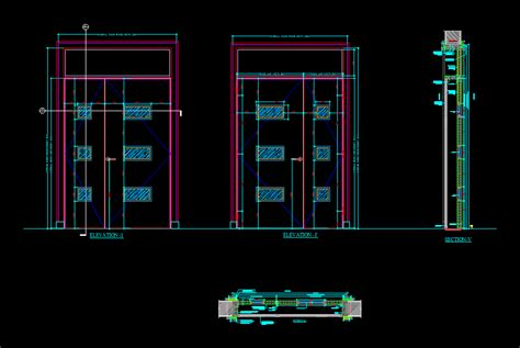 door section dwg images of sliding door section dwg woonv com handle idea