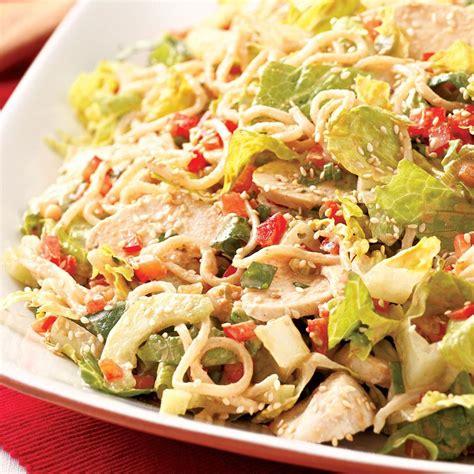 noodle salad recipes sesame chicken cucumber noodle salad recipe eatingwell