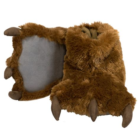 bear house shoes lazy one brown bear paw slippers with claws size xsmall ebay
