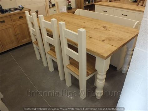 reclaimed painted chunky dining kitchen tables f b