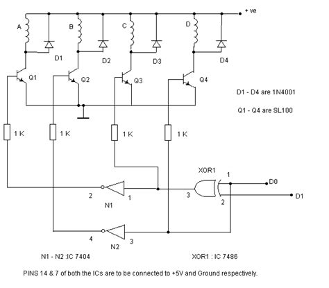 darlington transistor stepper motor stepper motor circuit page 6 automation circuits next gr