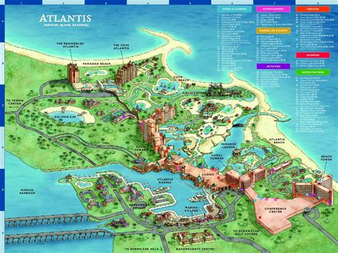 atlantis bahamas map harborside resort at atlantis photo resort map