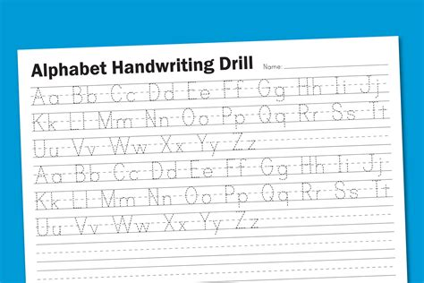 handwriting templates free printable alphabet handwriting worksheets