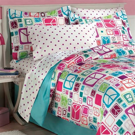 peace sign bedding new teen girls peace signs teal twin full bedding