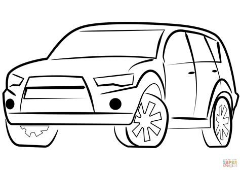 coloring page for car suv car coloring page free printable coloring pages