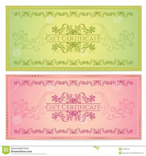 gift certificate voucher coupon template royalty free