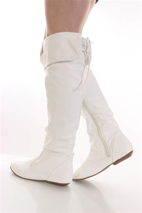 womans white boots winter white leather boots