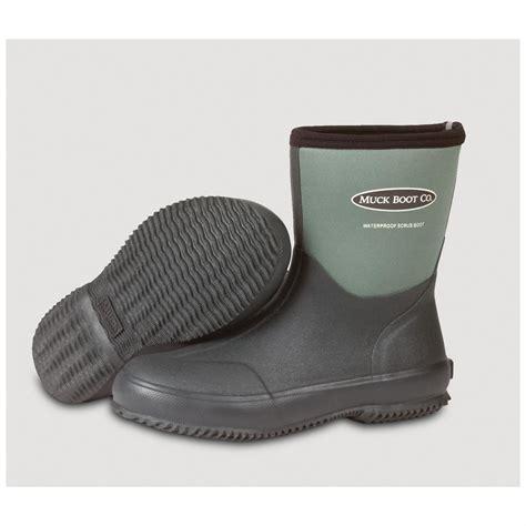 muck 10 quot scrub boot lawn garden boots green 183206