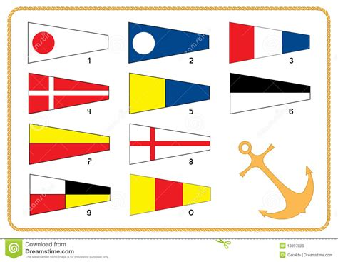 boat communication flags signal nautical flags stock photos image 13397823