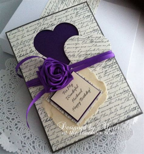 Handmade Birthday Gift Ideas For Husband - husband fiance birthday card handmade any by