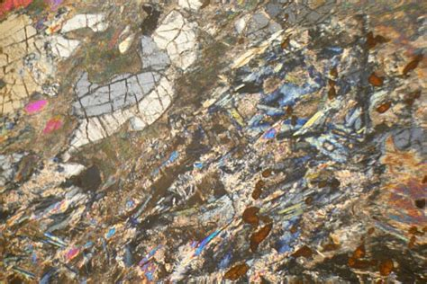 omphacite thin section zoisite eclogite nordfjord norway thin section microscope