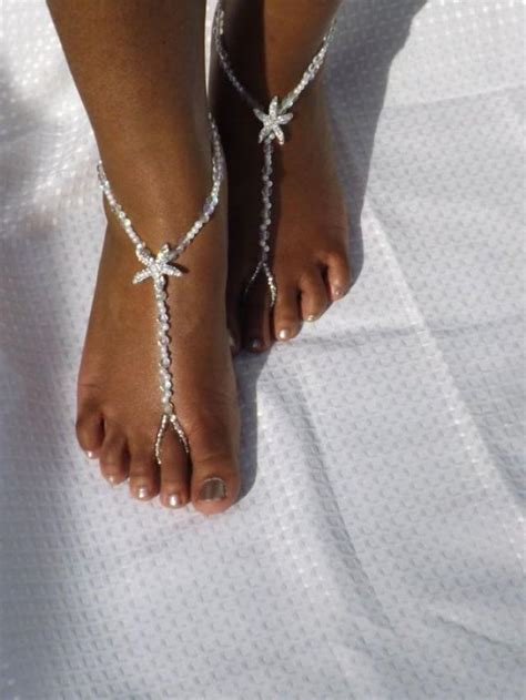 how to make foot jewelry with bridal jewelry barefoot sandals wedding foot jewelry