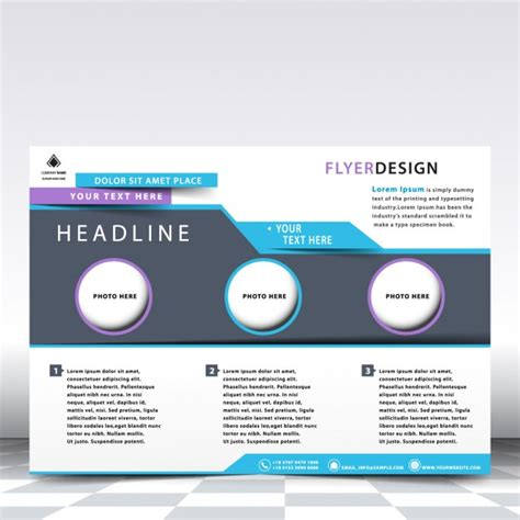 Horizontal Flyer Template Vector Free Download Horizontal Flyer Template