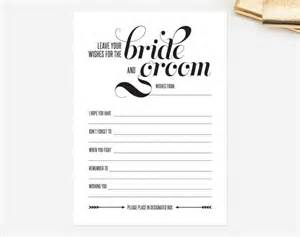 marriage advice cards templates wedding mad libs card leave your wishes for the