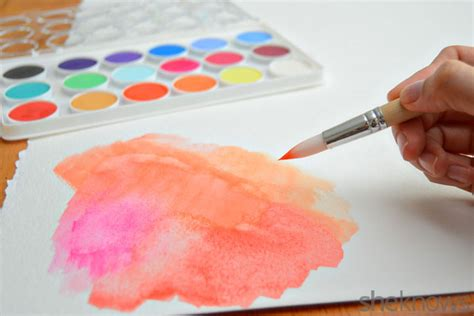 Make Watercolor Paper - make your own cutout canvas wall