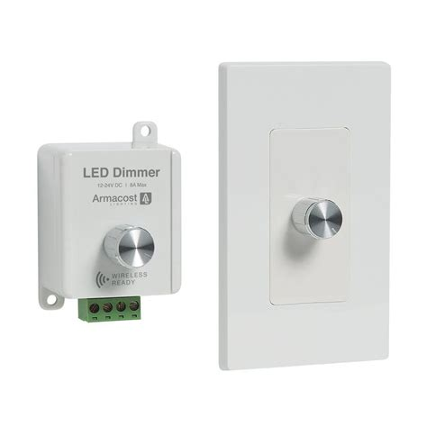 led light dimmer armacost lighting 2 in 1 white led dimmer dim2in1 96w12v