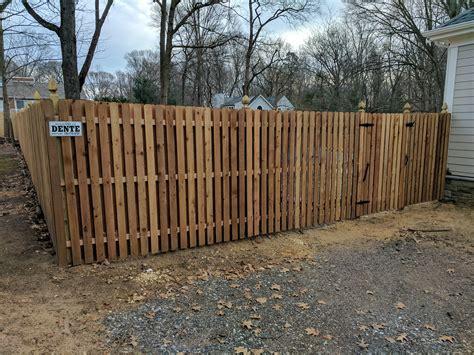 cedar fence sections specials fences by dente inc