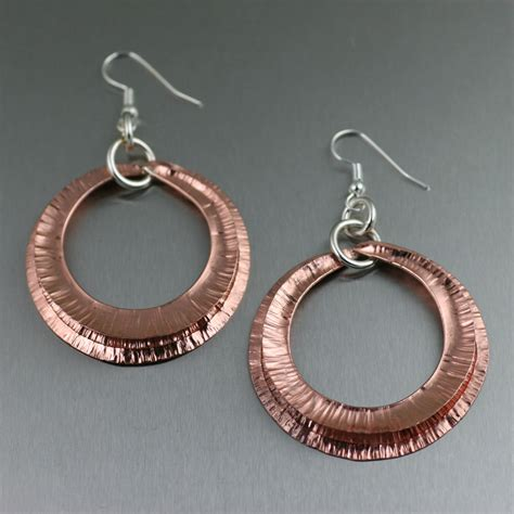 Handcrafted Copper Jewelry - cool and trendy copper earrings