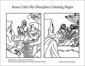 coloring pages of jesus and his disciples jesus calls his disciples coloring pages 171 crafting the