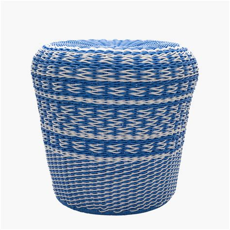Outdoor Drum Stool by Blue Woven Drum Outdoor Stool Dear Keaton