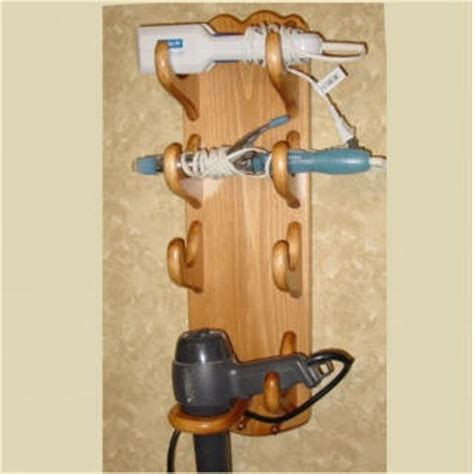 Diy Wooden Hair Dryer Holder 1000 images about wooden hair appliance holders on