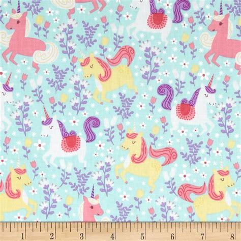 unicorn pattern fabric michael miller unicorn princess unicorn frolic seafoam