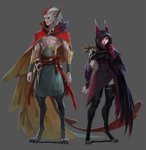 xayah and rakan xayah and rakan of league of legends