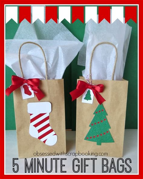 decorating paper bags for christmas obsessed with scrapbooking 5 minute gift bags with ctmh to my