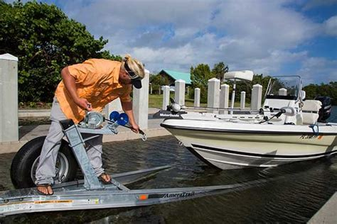 winching a boat on a trailer how to load your boat on the trailer trailering boatus