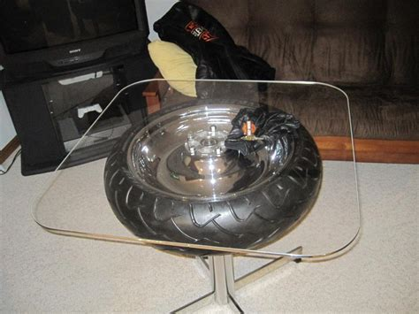 custom table made from a harley vrod harley davidson