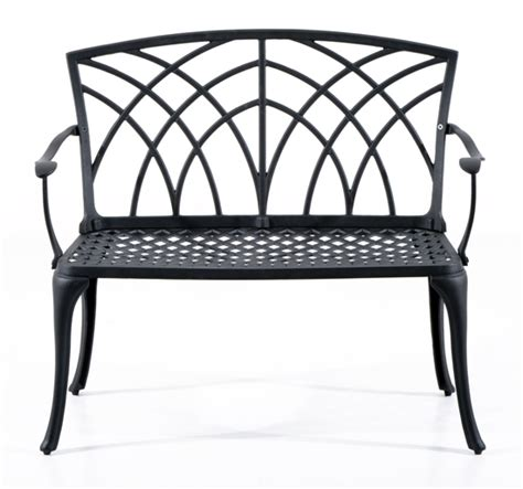 Solid Cast Aluminum Patio Furniture by Patio Garden Bench Cast Aluminum Outdoor Backyard Loveseat