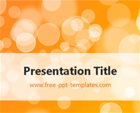 powerpoint templates free download orange circles ppt template free powerpoint templates