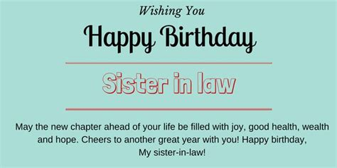 Happy Birthday Messages for Sister in Law   HappyBDwishes