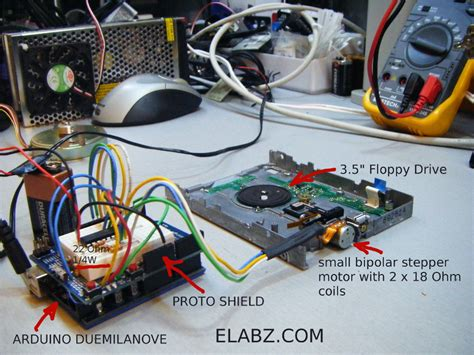 Bipolar Stepper Motor Em 462 4 Kabel driving a bipolar stepper motor with arduino and uln2803ag