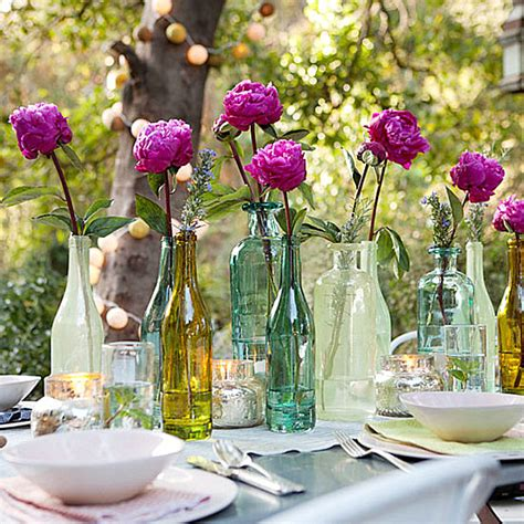 Hanging Glass Vase Long Garden Party Decoration Ideas Home Design Elements