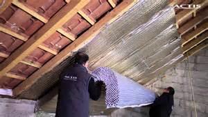 comment isoler une toiture entre et sous rants avec l