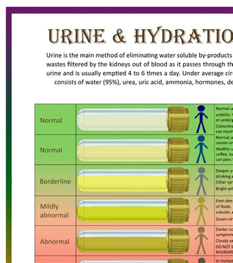 urine hydration analysis chart bristol stool form