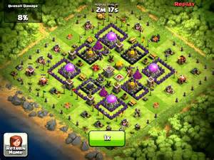 Gimmicky th9 base vs th8 farmer lvl 5 troops youtube