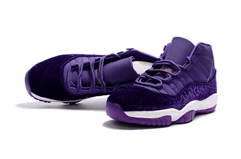 purple jordans shoes 2017 cheap air 11 purple velvet heiress shoes for