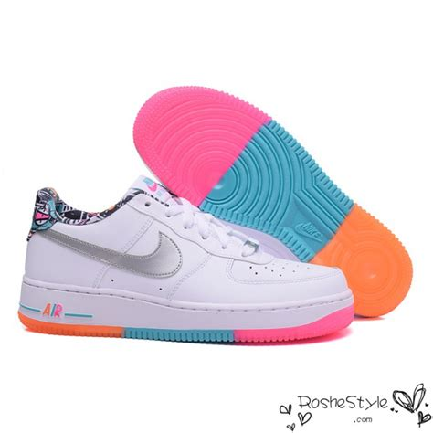 nike af1 rainbow air 1 low shoes womens mens white