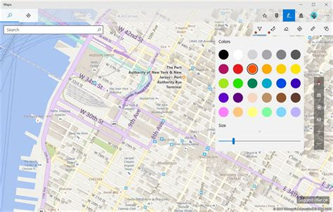 ink mapping how to use windows ink on the maps app on windows 10