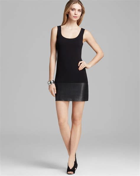 bailey 44 dress scoop neck tank with perforated faux