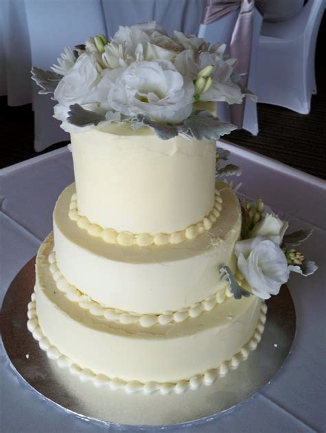 Simple But 3 Tier Wedding Cake For And Simple 3 Tier Chocolate Ganache Iced Wedding Cake With