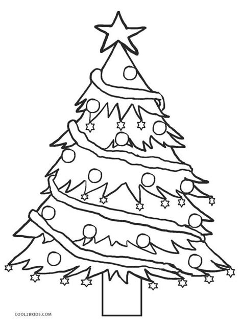 coloring page for a christmas tree printable christmas tree coloring pages for kids cool2bkids
